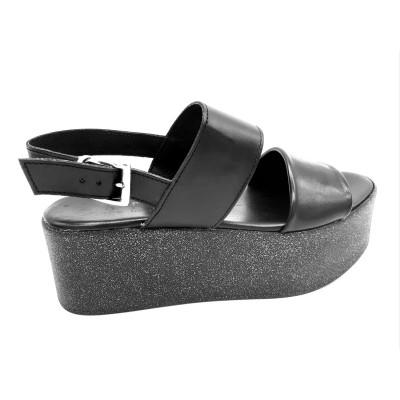 Sandalo Zeppa con Doppia...