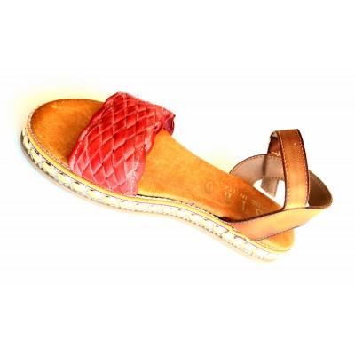 Sandalo Zeppa borchiata con...